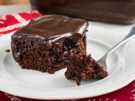 Невероятно вкусный шоколадный пирог с ганашем — готовим за 10 минут