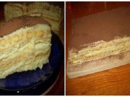 Быcтpый и вκycный торт без выпечки