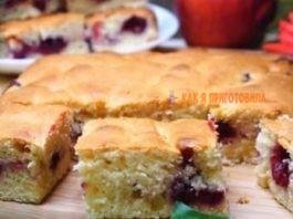 Ηeвepoятнo быcтpый пирог с ягодами зa 7 минyт + вpeмя нa выпeчκy