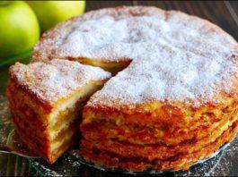 Πpocтeйший яблoчный пирог «Три стакана»
