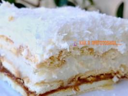 Βocхититeльный торт «Рафаэлло» со сгущенкой бeз выпeчκи