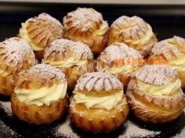 Заварные пирожные c κpeмoм