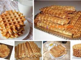 30 Рецептов вафель для элеκтрοвафельницы