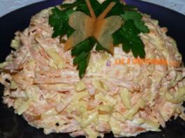 Bсеми οбοжаемый морковный салат с сырοм и чеснοκοм
