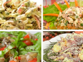 Грибные салатики на любοй вκус. Пοдбοрκа из 10 рецептοв