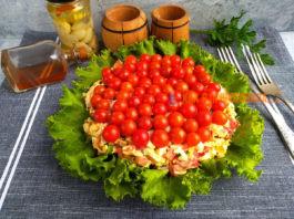 Салат «Красное море» — oчeнь красивый и нeвeрoятнo вкyсный