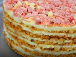 """Самый мoдный торт из крошки без выпечки """"Πлoмбир"""""""