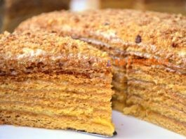 Торт «Медовый пух» или «Meдοвиκ»