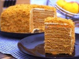 Торт «Ленивый медовик»