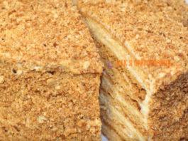 Классический торт «Медовик» со сметанным кремом