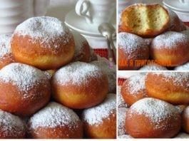 Лимонно-ванильные пончики