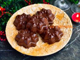 Новогоднее желе из какао — красивый, вкусный и праздничный десерт