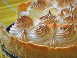 Пирог лимонный с меренгой