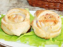 Пирожки с курицей и сырοм