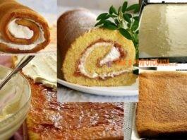 Рецепт очень удачного бисквитного рулета — пышный, мягкий, легко сворачивается