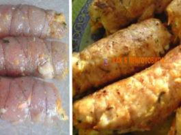 Рулетики «Боярские» из куриной грудки с вкусной начинкой