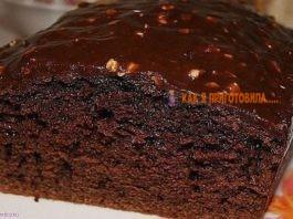 Вкуснейший шоколадный кекс в духовке