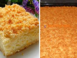 Вкусный и оригинальный тертый пирог с творогом