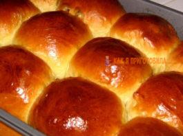 Мягкие, пушистые и вкусные сдобные булочки