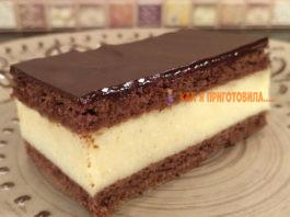 Обалденный торт «Птичье молоко» за 15 минут. Без выпечки