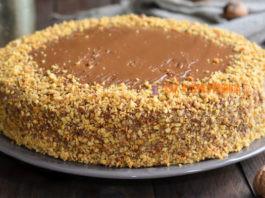 Ореховый торт с вареной сгущенкой — мой фирменный