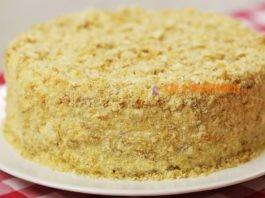 Торт Наполеон без выпечки за 20 минут. Простой и быстрый рецепт торта