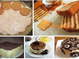 Торты из печенья без выпечки. Топ 5 лучших рецептов