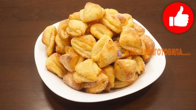 Фото к рецепту: Творожное печенье к чаю за 15 минут