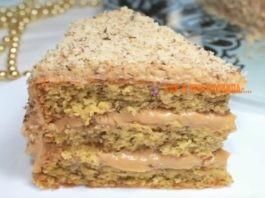 Вкусный и простой в приготовлении ореховый тортик