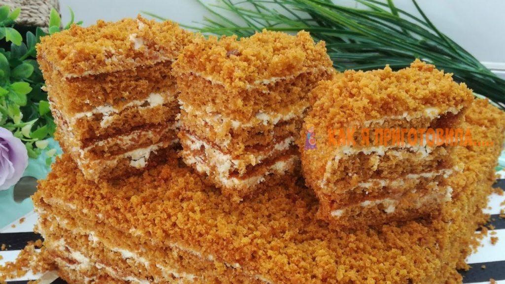 Медовый торт. Как пух!