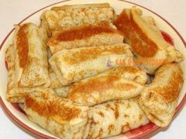 Тонкие блинчики с мясом