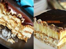 Вкуснющий торт-эклер без выпечки: этот десерт вскружит голову любому сладкоежке