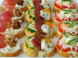 Праздничные бутерброды и закуски: 40 идей сервировки праздничного стола